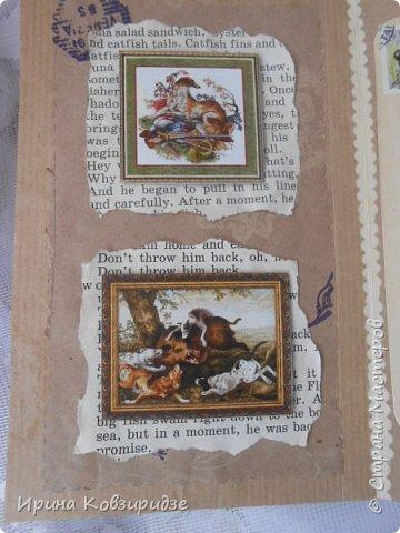 """Представляю очередные работы из серии """"Собаки"""". Это """"Дамы, лошади, собаки"""" Сделано по тому же принципу, что и Мастер-класс по открытке """"Собаки""""(у меня) http://stranamasterov.ru/node/1009036 фото 15"""