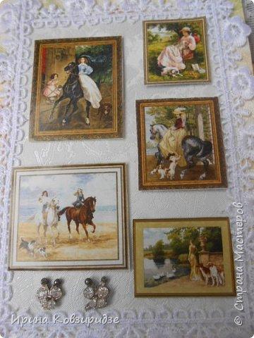 """Представляю очередные работы из серии """"Собаки"""". Это """"Дамы, лошади, собаки"""" Сделано по тому же принципу, что и Мастер-класс по открытке """"Собаки""""(у меня) http://stranamasterov.ru/node/1009036 фото 2"""