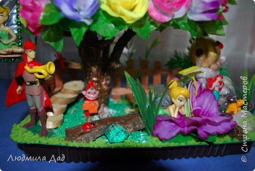 Хочу выразить свою благодарность двум прекрасным мастерицам Снежане Мешковой и Мадине Галиевой. Свой сказочный топиарий задумывала давно. но все как то не было повода.У девченок подсмотрела идеи , добавила свое и получилась вот такая маленькая сказочная страна. фото 14