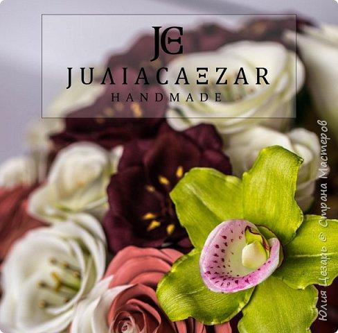 Орхидея из фоамирана Двухцветная роза из фоамирана Шоколадный космос из фоамирана Эустома их фоамирана фото 5