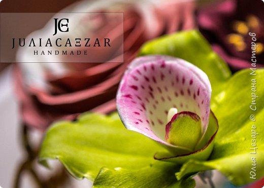 Орхидея из фоамирана Двухцветная роза из фоамирана Шоколадный космос из фоамирана Эустома их фоамирана фото 9