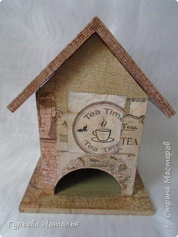 Здравствуйте, жители замечательной СМ!!! Представляю Вашему вниманию свои первые чайные домики. Готовились они в подарок прекрасным людям. Первый домик фото 9