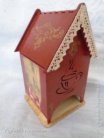 Здравствуйте, жители замечательной СМ!!! Представляю Вашему вниманию свои первые чайные домики. Готовились они в подарок прекрасным людям. Первый домик фото 10