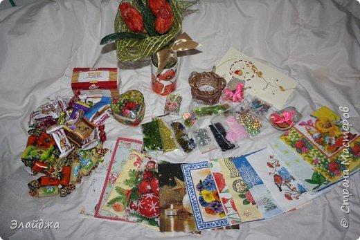 """Моя Посылка уже дошла до адресата и я могу показать  свои цветочки, которые делала по игре  """"Подруги"""" http://stranamasterov.ru/node/999441?c=favorite организованная  Натальей 16121983  фото 4"""