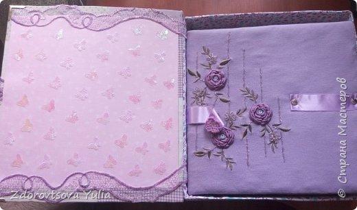 Мой первый альбом для любимой племянницы-крестницы в подарок. начну с коробочка. Сразу извините за  качество фото, сделала на мобильный) фото 2