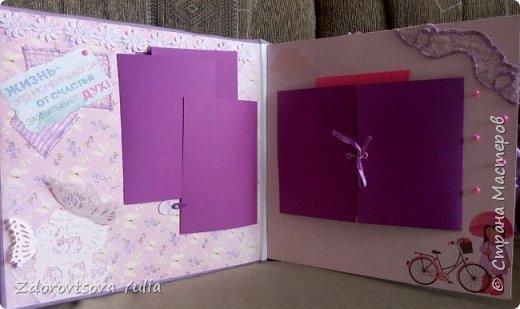 Мой первый альбом для любимой племянницы-крестницы в подарок. начну с коробочка. Сразу извините за  качество фото, сделала на мобильный) фото 6