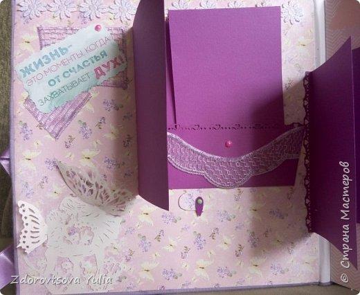 Мой первый альбом для любимой племянницы-крестницы в подарок. начну с коробочка. Сразу извините за  качество фото, сделала на мобильный) фото 7