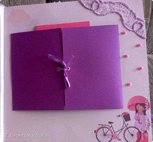 Мой первый альбом для любимой племянницы-крестницы в подарок. начну с коробочка. Сразу извините за  качество фото, сделала на мобильный) фото 9