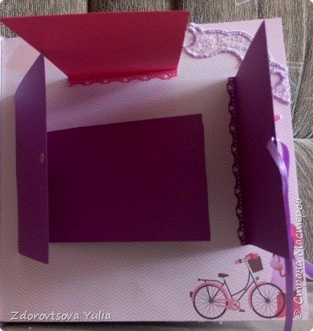 Мой первый альбом для любимой племянницы-крестницы в подарок. начну с коробочка. Сразу извините за  качество фото, сделала на мобильный) фото 10