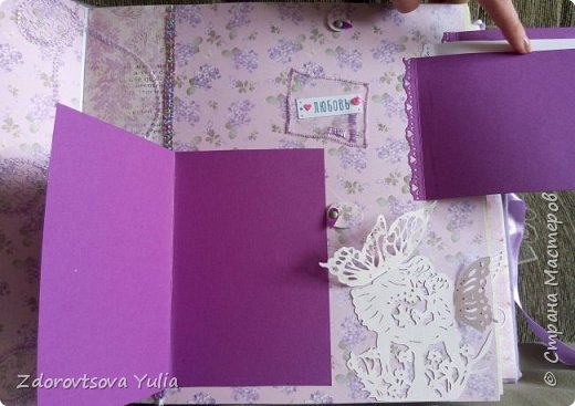Мой первый альбом для любимой племянницы-крестницы в подарок. начну с коробочка. Сразу извините за  качество фото, сделала на мобильный) фото 18