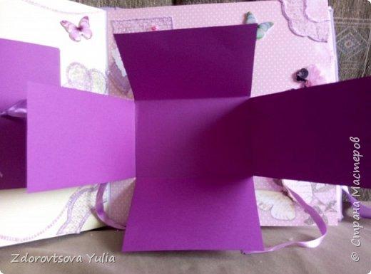 Мой первый альбом для любимой племянницы-крестницы в подарок. начну с коробочка. Сразу извините за  качество фото, сделала на мобильный) фото 37