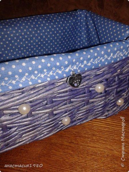 коробуля большая девочке под рукодельные штучки (внутри будет чехолчик из материи с кармашками под спицы и крючки) фото 11