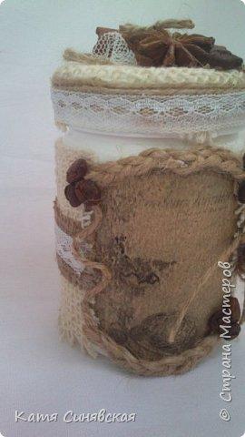 Вот такие баночки на кухню сделала в дополнение к текстильной корзинке маме на ДР. фото 12