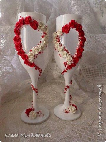 Для свадьбы в  бело красных тонах. фото 1