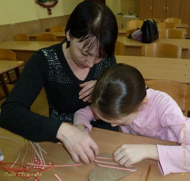 """Дарить подарки всегда интересно.... А  сделать подарок вместе с мамой для папы... """"Сердечко для папы"""" фото 10"""