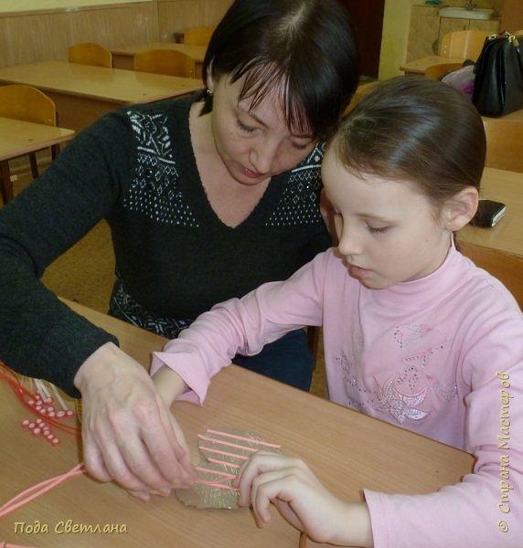 """Дарить подарки всегда интересно.... А  сделать подарок вместе с мамой для папы... """"Сердечко для папы"""" фото 11"""