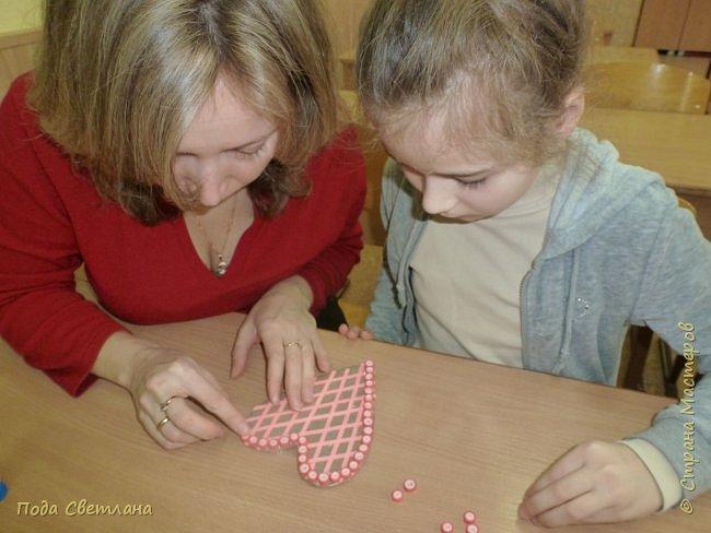 """Дарить подарки всегда интересно.... А  сделать подарок вместе с мамой для папы... """"Сердечко для папы"""" фото 8"""