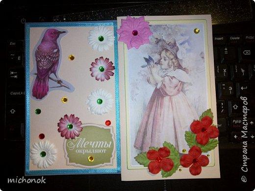 """мои первые работы в этом году открытку делала для игры """"Стрелы Амура"""", посылку отправляла давно, скорее всего она уже  пришла, так что думаю, что я вполне могу выложить содержимое сюда. фото 6"""