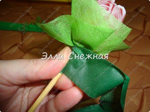 Прикупила недавно формочку бутона тюльпана. Очень славная. И решила сделать мини-букетик, а заодно и поделиться с вами. Букетик небольшой - высотой всего 20 см, диаметр 15 см. фото 18