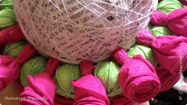 Мой топиарий с розами и шарами . фото 11