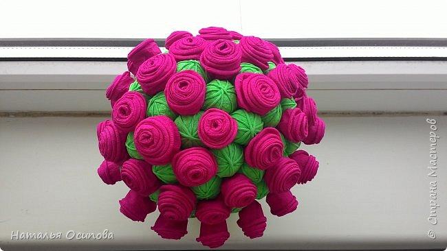 Мой топиарий с розами и шарами . фото 12
