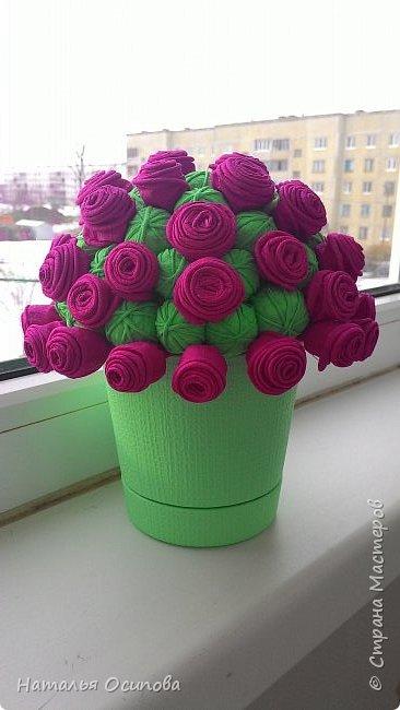 Мой топиарий с розами и шарами . фото 1