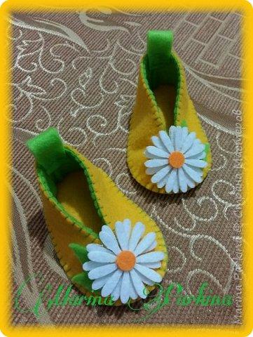 Хочу сегодня поделиться маленькой обувью Сделала пинетки из фетра для малышей. Осталась очень довольна своей работой. До сих пор не налюбуюсь)))  Надеюсь и вам понравится фото 9