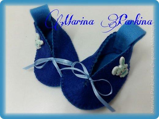 Хочу сегодня поделиться маленькой обувью Сделала пинетки из фетра для малышей. Осталась очень довольна своей работой. До сих пор не налюбуюсь)))  Надеюсь и вам понравится фото 7