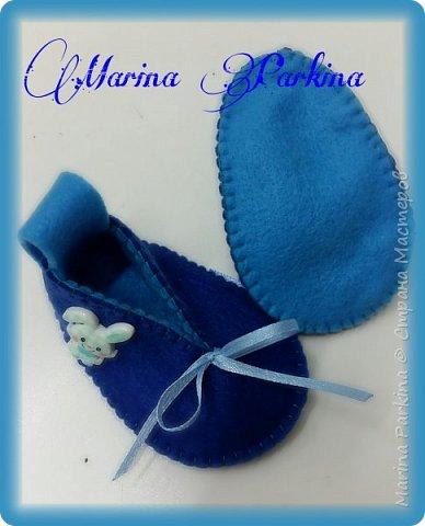 Хочу сегодня поделиться маленькой обувью Сделала пинетки из фетра для малышей. Осталась очень довольна своей работой. До сих пор не налюбуюсь)))  Надеюсь и вам понравится фото 8