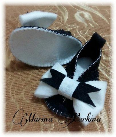 Хочу сегодня поделиться маленькой обувью Сделала пинетки из фетра для малышей. Осталась очень довольна своей работой. До сих пор не налюбуюсь)))  Надеюсь и вам понравится фото 6