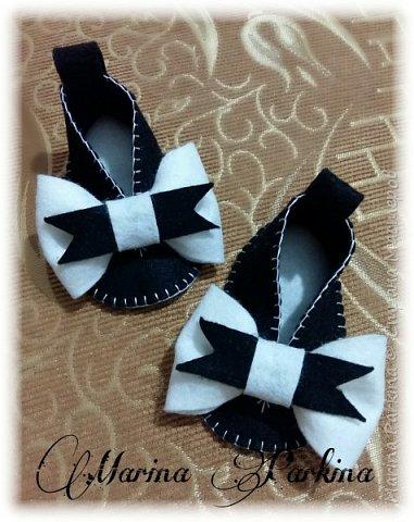 Хочу сегодня поделиться маленькой обувью Сделала пинетки из фетра для малышей. Осталась очень довольна своей работой. До сих пор не налюбуюсь)))  Надеюсь и вам понравится фото 5