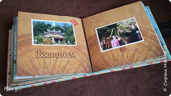Вот такой альбом я подарила маме на День Рождение! Она каждый год ездит в разные страны, а в этом альбоме собраны фотографии почти со всех мест где она побывала. Альбом делала по мастер-классу http://stranamasterov.ru/node/797400?c=favorite. фото 9