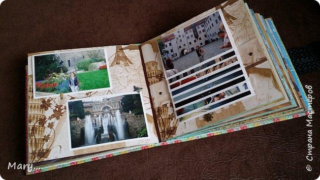 Вот такой альбом я подарила маме на День Рождение! Она каждый год ездит в разные страны, а в этом альбоме собраны фотографии почти со всех мест где она побывала. Альбом делала по мастер-классу http://stranamasterov.ru/node/797400?c=favorite. фото 5