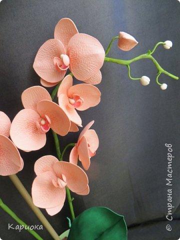 Здравствуйте! Наконец я собрала Целую орхидею, а не отдельную веточку!!! Это моя  первая  целая орхидея и вот что получилось. Не судите очень строго))) (Знаю - огрехов хватает))))  И все же готова Вам ее представить. фото 3