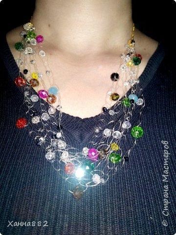 Навязалось ожерелье, я давно хотела попробовать и вот. Мне понравилось. Даже уже заказали похожее))) фото 1