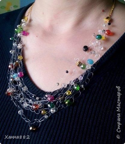 Навязалось ожерелье, я давно хотела попробовать и вот. Мне понравилось. Даже уже заказали похожее))) фото 2