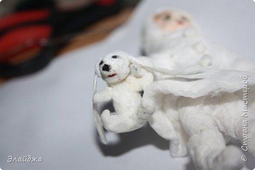 Вот за выходные получилась  Девчушка с зайцем, имя ей еще не придумала, как и цвета в которые  раскрашу.  фото 5