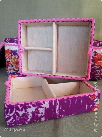 Мои первые шкатулки: из картона для рукоделия и из спичечных коробков для бусинок и всяких мелочей - булавок, застежек, крючочков и т.д. Не все получилось идеально, и еще есть к чему стремиться)) фото 19
