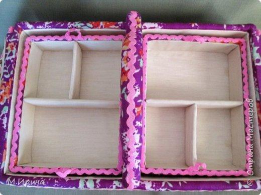 Мои первые шкатулки: из картона для рукоделия и из спичечных коробков для бусинок и всяких мелочей - булавок, застежек, крючочков и т.д. Не все получилось идеально, и еще есть к чему стремиться)) фото 13