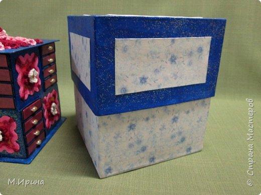 Мои первые шкатулки: из картона для рукоделия и из спичечных коробков для бусинок и всяких мелочей - булавок, застежек, крючочков и т.д. Не все получилось идеально, и еще есть к чему стремиться)) фото 27