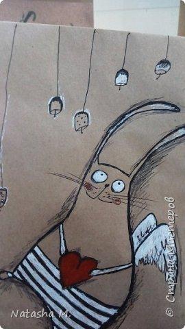 Привет Всем! Еще один пост, как итог за полгода, все мои акварельные коты, и не только. Приятного просмотра! Рисунки формата А3 и А4.  Масляными карандашами.  фото 9