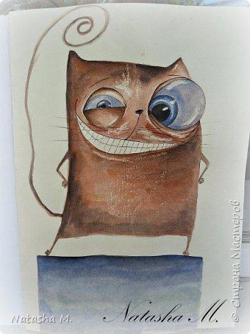 Привет Всем! Еще один пост, как итог за полгода, все мои акварельные коты, и не только. Приятного просмотра! Рисунки формата А3 и А4.  Масляными карандашами.  фото 20