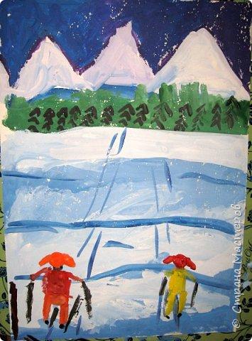Рисовали еще в январе, но некогда было выложить работы. Первая работа моя, дальше детские (5-ти летки). фото 12