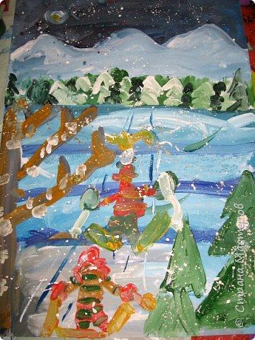 Рисовали еще в январе, но некогда было выложить работы. Первая работа моя, дальше детские (5-ти летки). фото 14