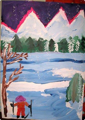 Рисовали еще в январе, но некогда было выложить работы. Первая работа моя, дальше детские (5-ти летки). фото 15
