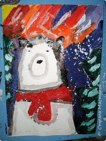 Рисовали еще в январе, но некогда было выложить работы. Первая работа моя, дальше детские (5-ти летки). фото 3