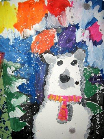 Рисовали еще в январе, но некогда было выложить работы. Первая работа моя, дальше детские (5-ти летки). фото 4