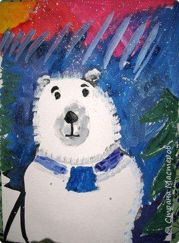 Рисовали еще в январе, но некогда было выложить работы. Первая работа моя, дальше детские (5-ти летки). фото 5