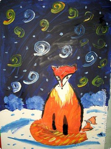 Рисовали еще в январе, но некогда было выложить работы. Первая работа моя, дальше детские (5-ти летки). фото 8