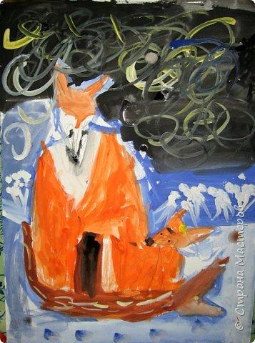 Рисовали еще в январе, но некогда было выложить работы. Первая работа моя, дальше детские (5-ти летки). фото 11